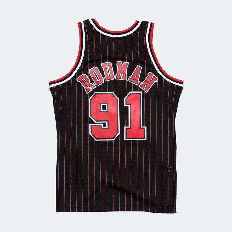 newest 8e2dc 38875 ** Mitchell & Ness Dennis Rodman Swingman Jersey Chicago Bulls WHITE