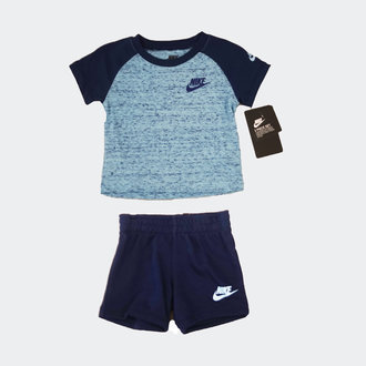 49ff8fbc414 Nike Nike NSW Jersey Short 2 Piece Set (E752) U9J Blue