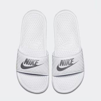 Nike Nike - Womens Benassi JDI (343881) 102 White/Metallic Silver