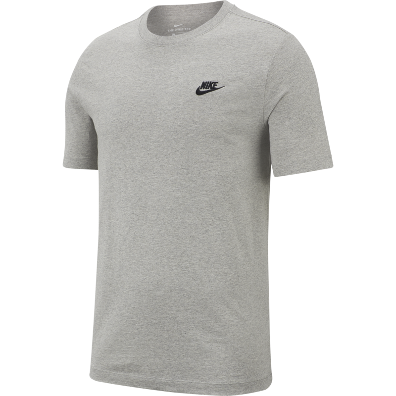 Nike Nike Sportswear Club Shirt DK GREY HEATHER/BLACK Apparel AR4997-064