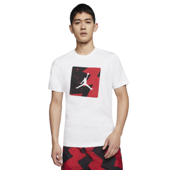 Air Jordan Air Jordan Retro 5 Fire Red Poolside White Shirt CJ6244-100