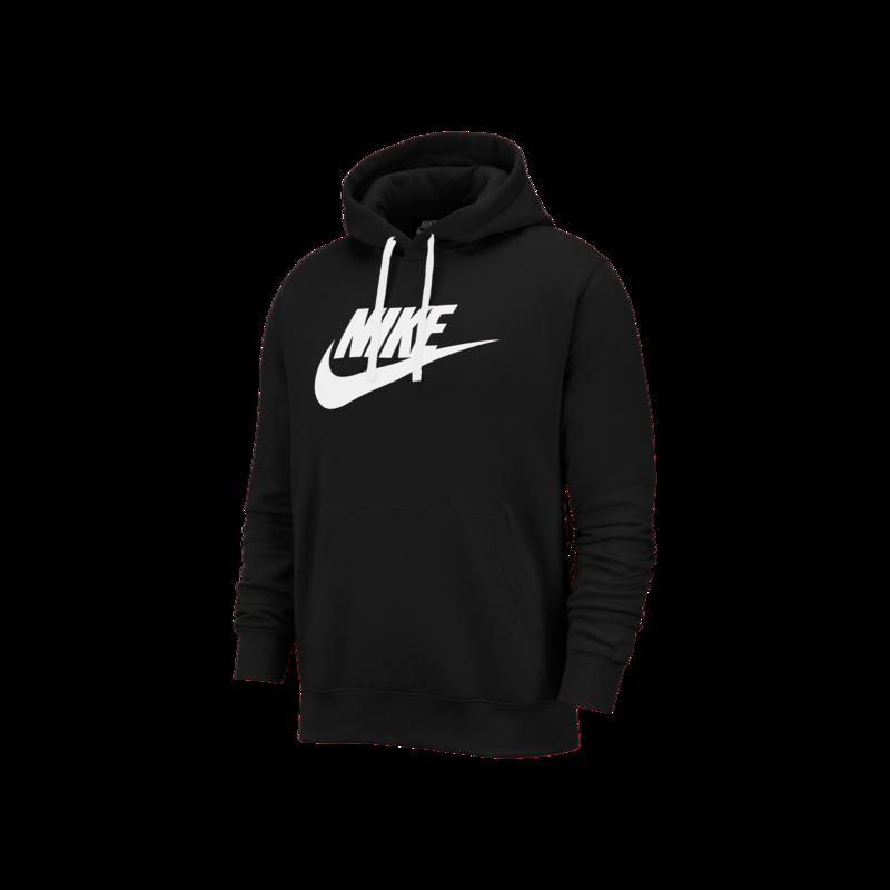 Nike Nike Mens NSW Club Hoodie Pull Over Black BV2973-010