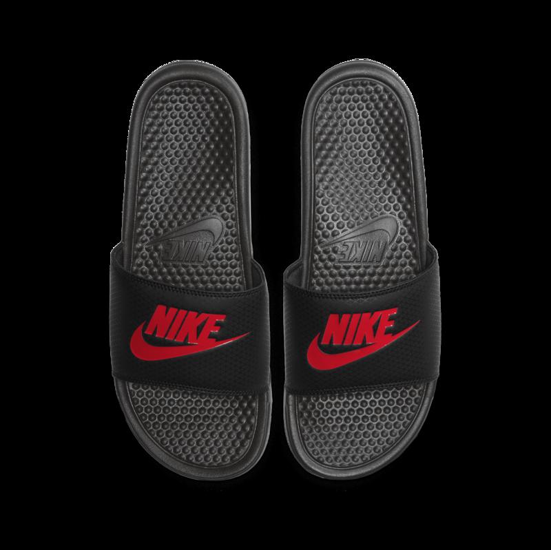 Nike NIKE MEN'S BENASSI JDI BLACK/CHALLENGE RED 343880 060 M