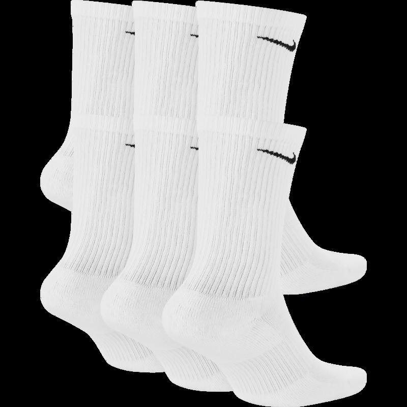 Nike Nike Everyday Plus Cushioned Crew Sock 6 Pack 'White' SX6897-100