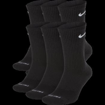 Nike Nike Everyday Plus Cushioned Crew Sock 6 Pack 'Black' SX6897-100 (8-12)