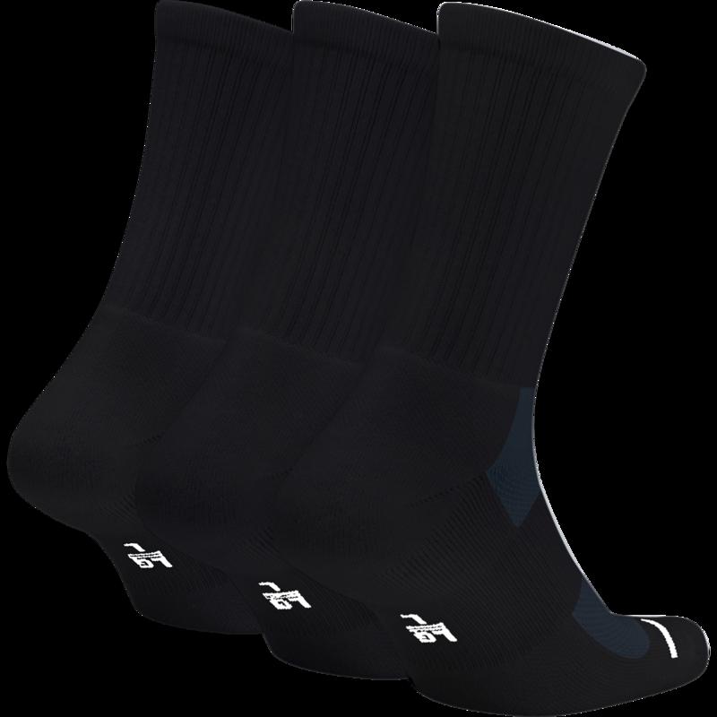 Nike Jordan Jumpman Crew Basketball Socks 'Black' sx5545-013 (3 Pairs)