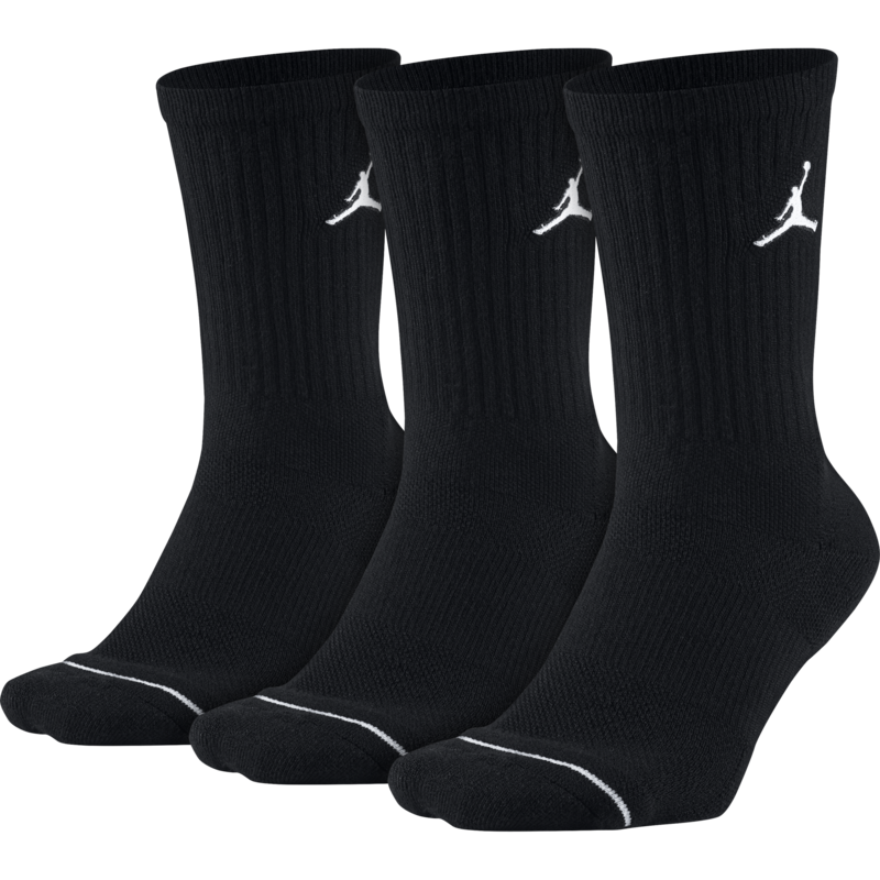 Nike Jordan Jumpman Crew Basketball Ankle Socks 'Black' sx5545-013 (3 Pairs)