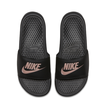 Nike NIKE WOMENS BENASSI JDI BLACK/ROSE GOLD 343881 007