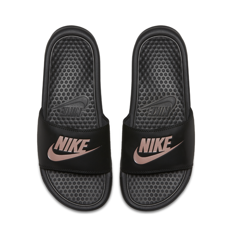 Nike NIKE WOMENS BENASSI JDI BLACK/ROSE GOLD 343881 007