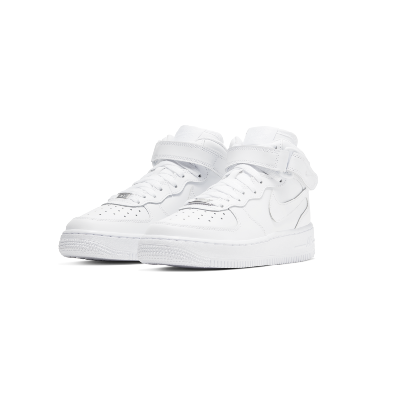 "Nike Nike Air Force 1 Mid ""White"" GS 314195 113"