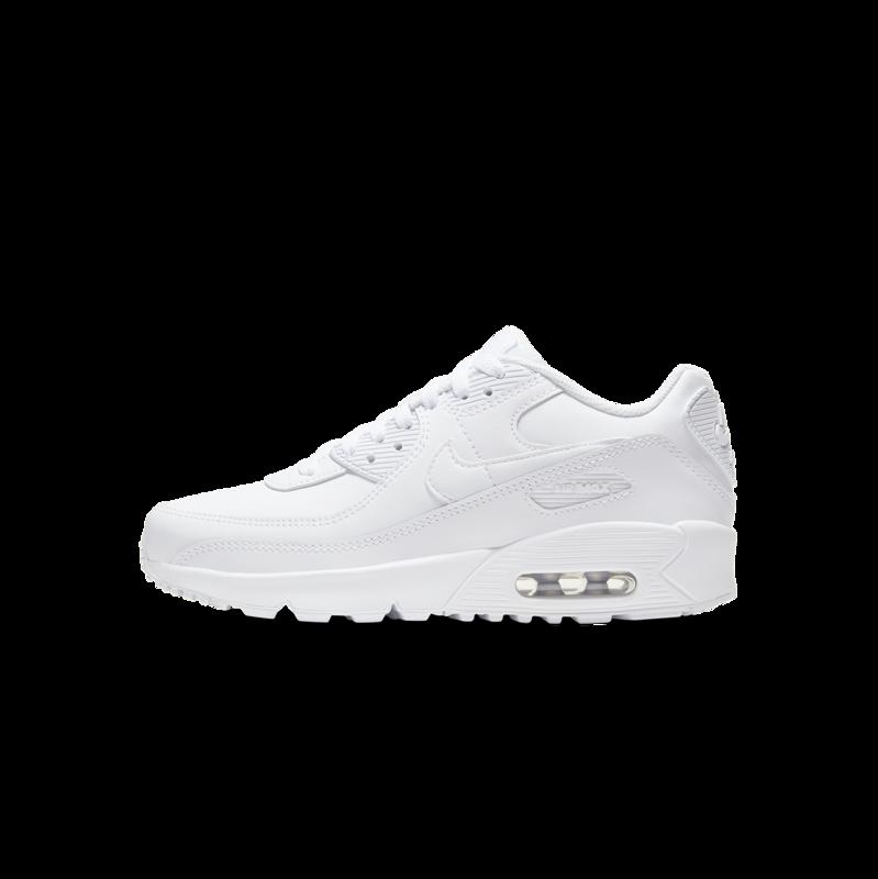 """Nike Nike Air Max 90 LTR """"White/Metallic Silver"""" GS CD6864 100"""
