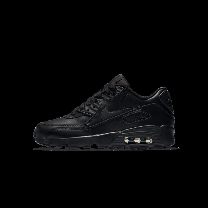 "Nike Nike Air Max 90 LTR ""Black/Black"" GS 833412 001"
