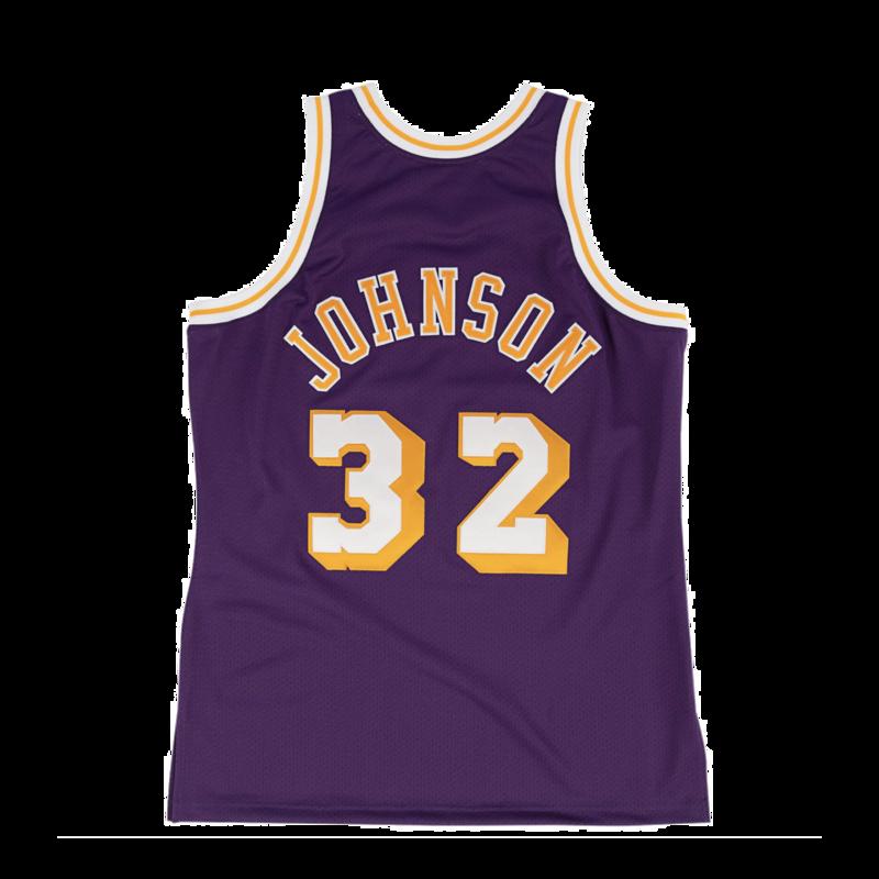 Mitchell & Ness Mitchell & Ness Magic Johnson Swingman Jersey Los Angeles Lakers 1984-85 Purple