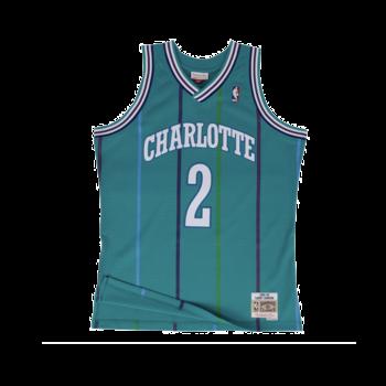 Mitchell & Ness Mitchell & Ness Charlotte Hornets Larry Johnson 1992-93 Jersey Teal