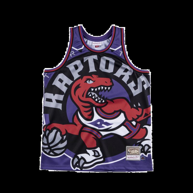 Mitchell & Ness Mitchell & Ness Toronto Raptors Bigface Background Jersey Purple