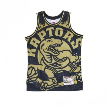 Mitchell & Ness Mitchell & Ness Toronto Raptors Bigface Background Jersey Black/Gold