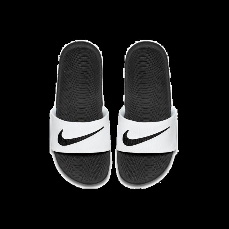 "Nike Nike Kawa Slide ""White/Black"" GS/PS 819352 100"