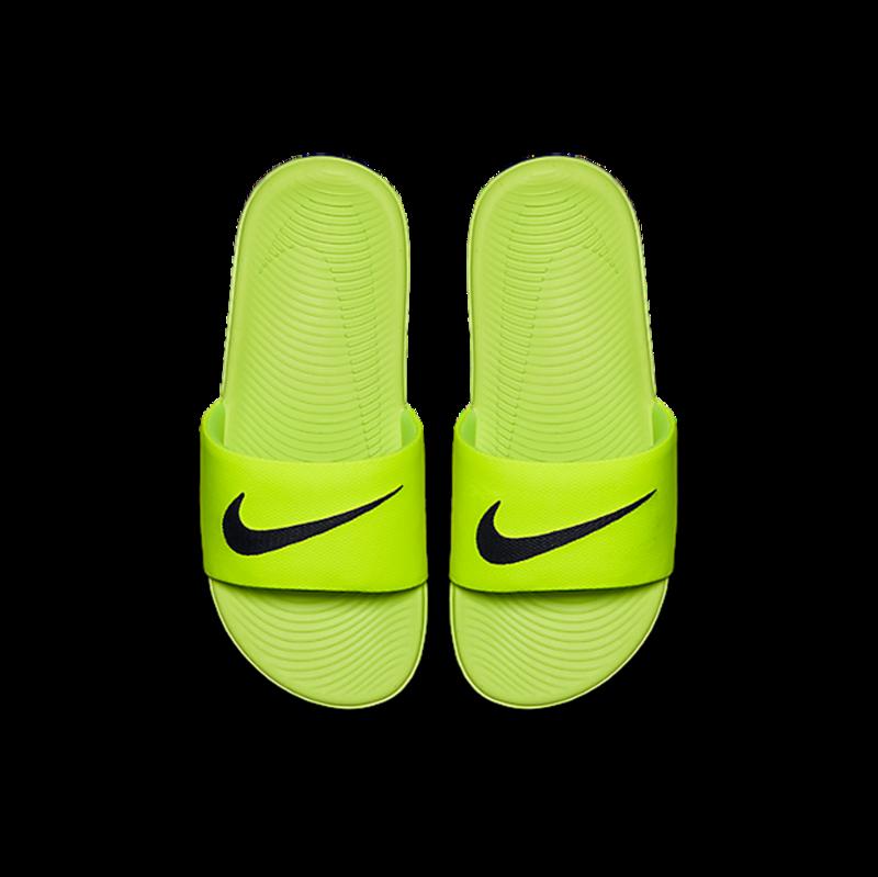 """Nike Nike Kawa Slide """"Volt/Black"""" GS/PS 819352 700"""