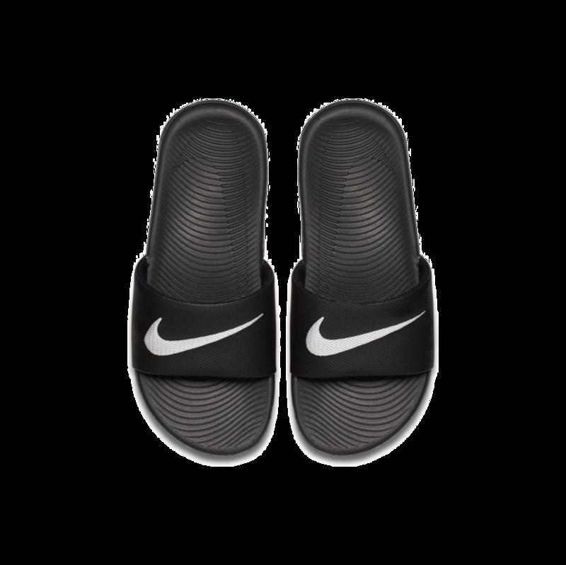 "Nike Nike Kawa Slide ""Black/White"" GS/PS 819352 001"