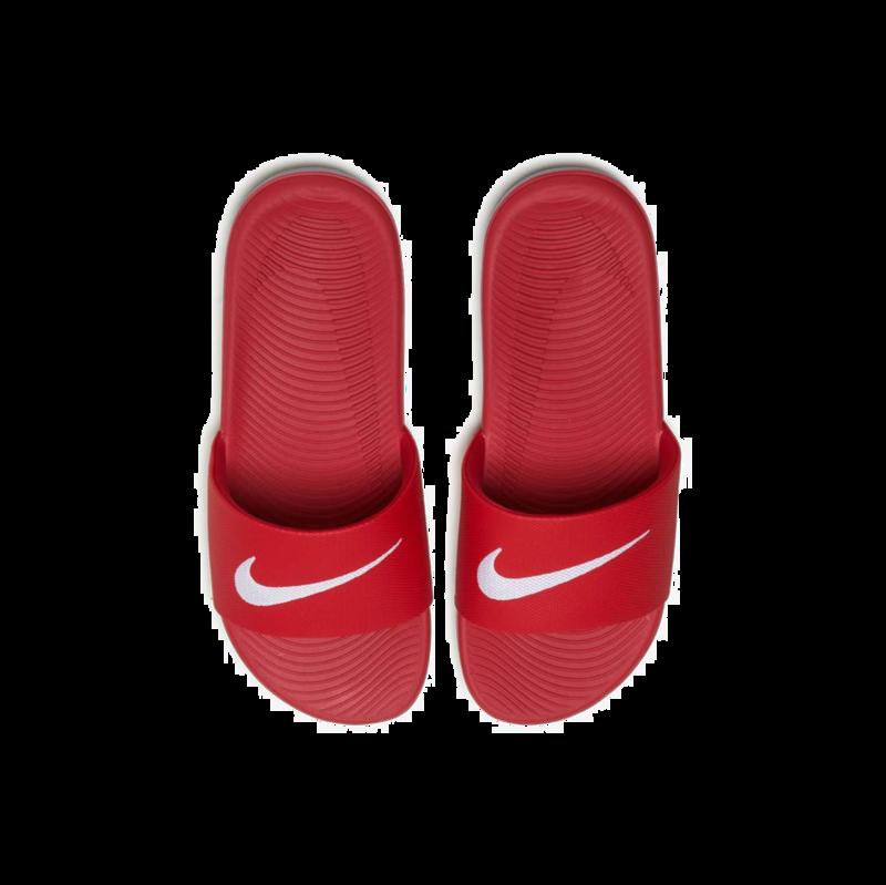 "Nike Nike Kawa Slide ""University Red/White"" GS/PS 819352 600"