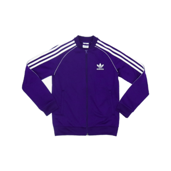 "Adidas Adidas Kids Superstar Track Top ""Purple/White"" EI9878"