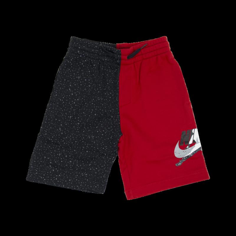 "Air Jordan Air Jordan Kids ""Mashup Split"" Shorts Gym Red/Granite 85 6903 R78"