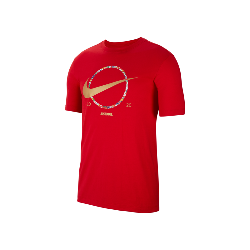 """Nike Nike NSW """"Preheat"""" Swoosh Tee Red CT6871 657"""