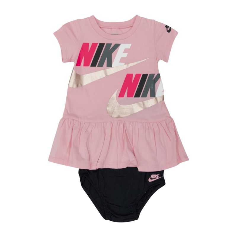 "Nike Nike Dress ""Logo"" 2 Piece Set Pink/Black 06 6259 A8F"