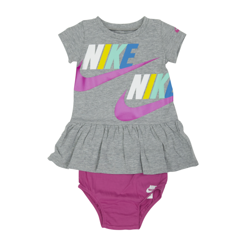 "Nike Nike ""Swoosh"" Dress 2 Piece Set Grey/Pink 16 G259 042"