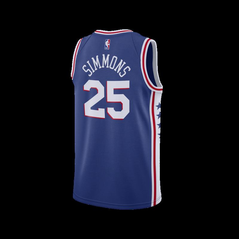 "Nike Nike Basketball Ben Simmons Philadelphia 76ers ""Blue"" Swingman Jersey CJ7678 497"