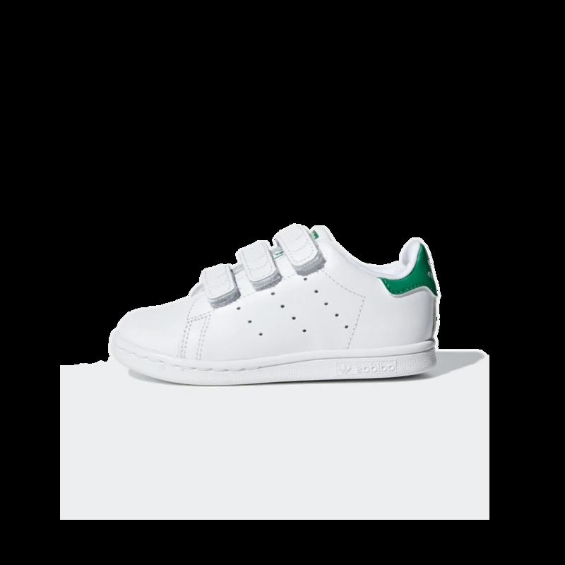 Adidas Adidas Toddler Stan Smith CF I Cloud White/Cloud White/Green BZ0520
