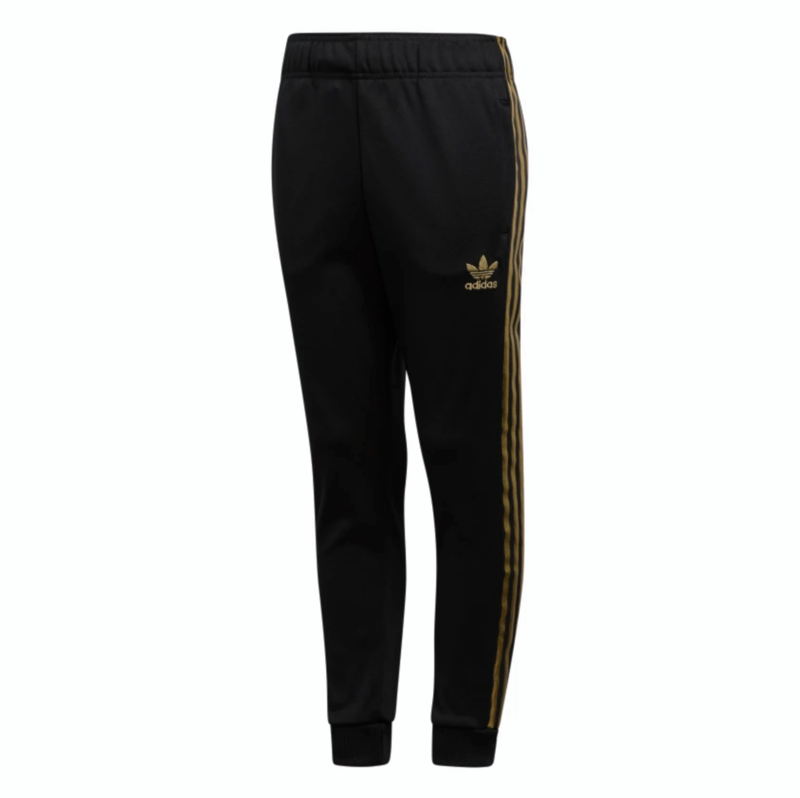 Adidas Adidas Kids Superstar 24K Track Pants 'Black Gold' GJ2265