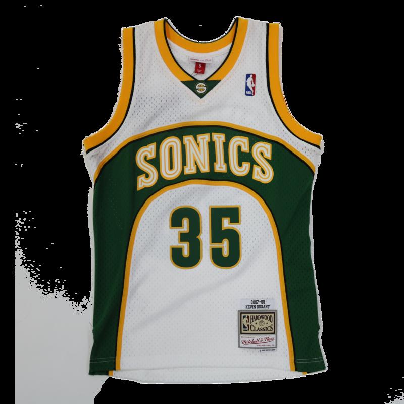 Mitchell & Ness Mitchell & Ness Kevin Durants Seattle Sonics Swingman Jersey 2007-2008 White/Green