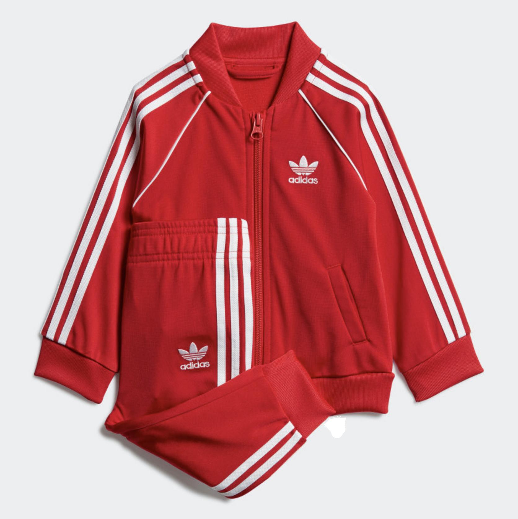 Adidas Kids Superstar Track Suit 'Red