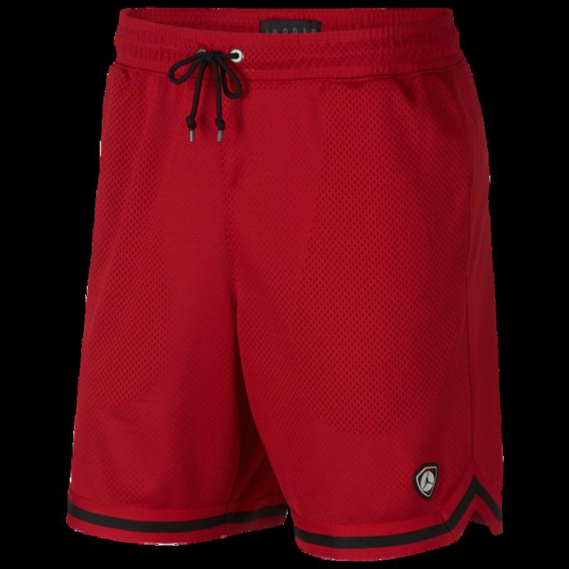 Air Jordan Air Jordan Mens Retro 17 'Last Shot' Mesh Shorts Red AQ0624