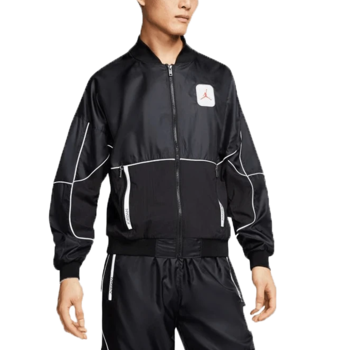 Air Jordan Air Jordan Mens 3M Logo Zip-Up Track Jacket 'Black' CU1666 010
