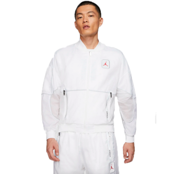 Air Jordan Air Jordan Mens 3M Logo Zip-Up Track Jacket 'White' CU1666 100