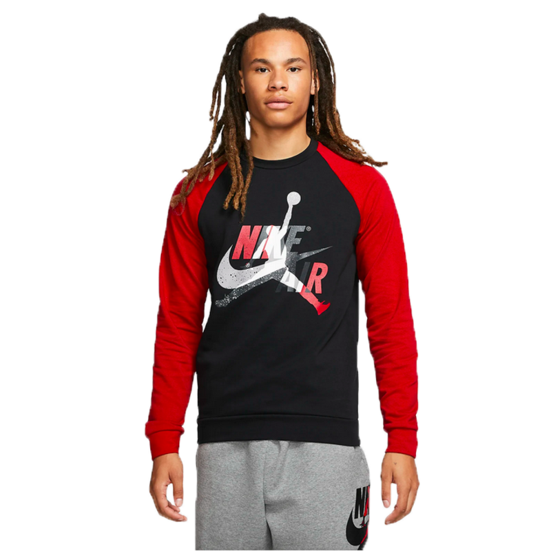 Air Jordan Air Jordan Mens Mash up Fleece Crew 'Black/Red' CK2848 010