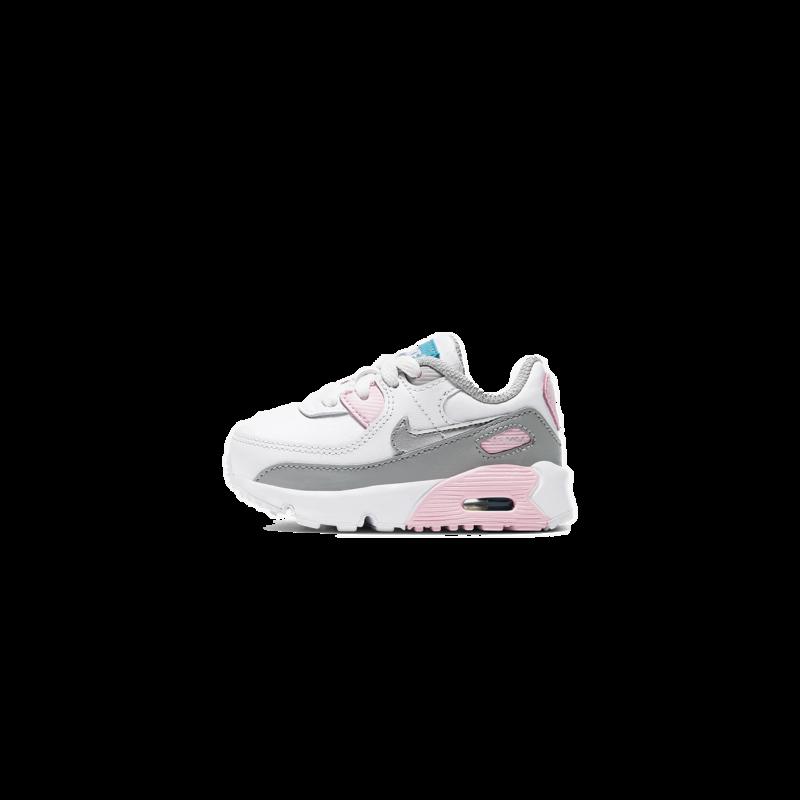 Nike Air Max 90 LTR Light Smoke Grey/Metallic Silver Pink Toddler CD6868-004