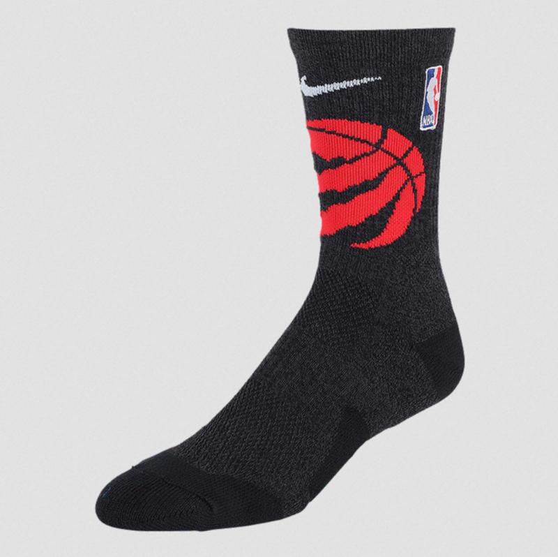 Nike Nike Men's NBA Elite Toronto Raptors Basketball Crew Socks SK0185 010