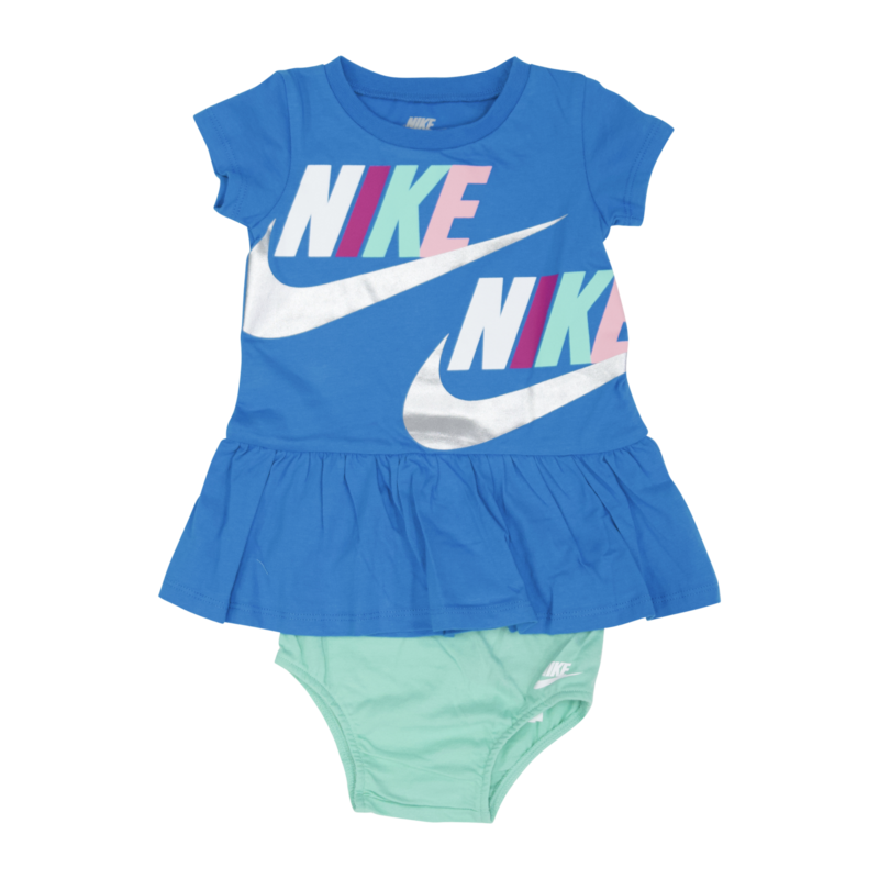 "Nike Nike ""Swoosh"" Dress 2 Piece Set Blue/Teal 16 G259 U3H"