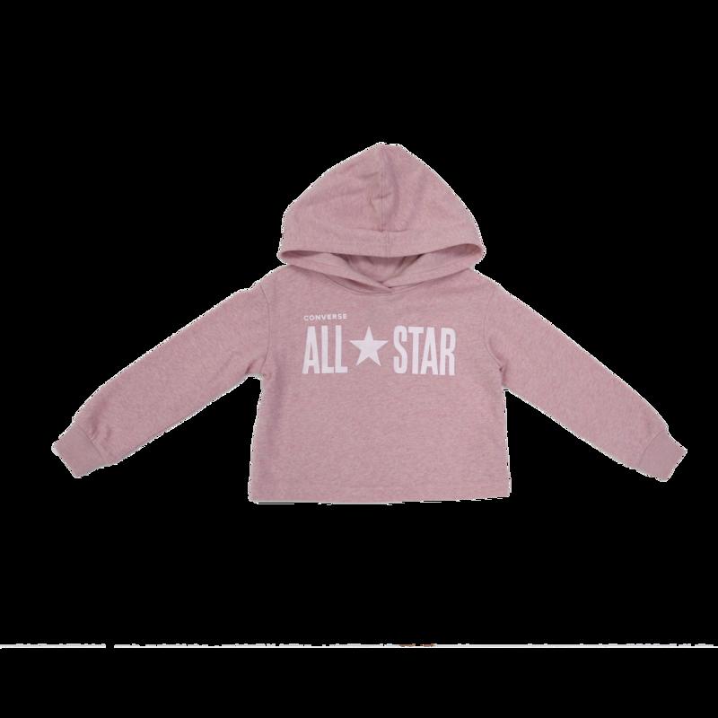 Converse Kids Crop Sparkle Hoodie 'Pink' 469631 ABF