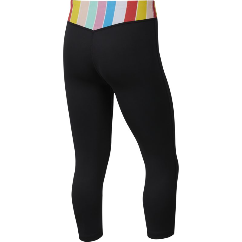 Nike Nike Girls One Tights Capri 'Black/Multi-Color' CJ7671 010