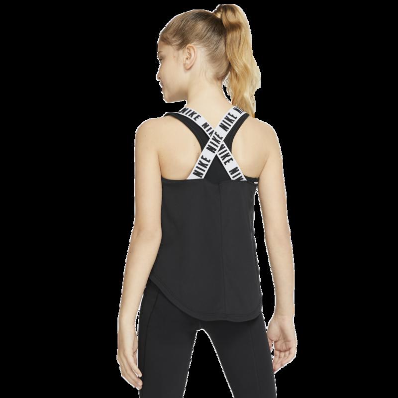 Nike Nike Girls Dri-Fit Elastika Tank 'Black/White' CK2803 010