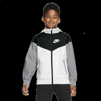 Nike Nike Kids Sportswear Windrunner Hooded Jacket Black/White 850443 102