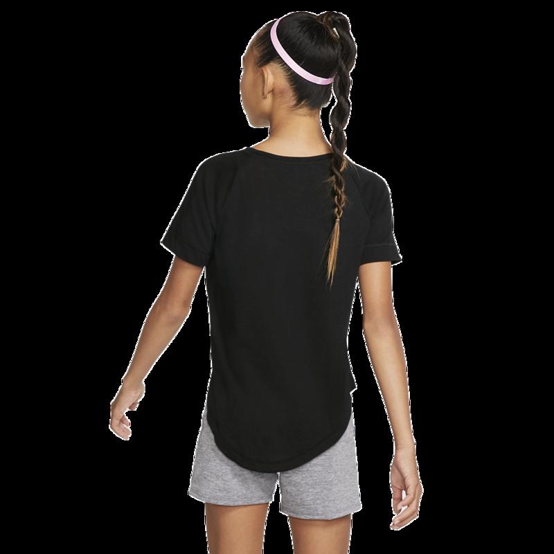 "Nike Nike Kids Girls Dri-Fit Training Top ""Black/White"" BV2790 010"