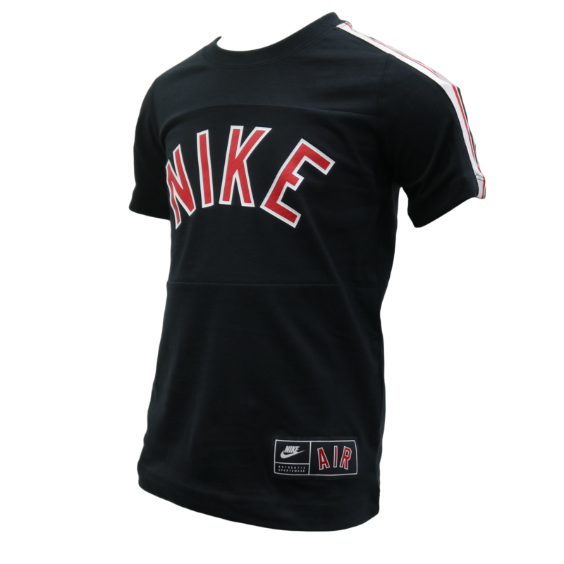 "Nike Nike Kids Boys Authentic Sports Air Tee ""Black/Red/White"" CN2422 010"