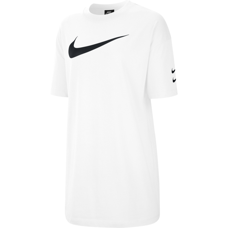 Nike Nike Women's Swoosh Sportswear Dress White/Black CJ3829 100