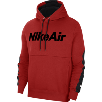 Nike Nike Air Men's Sportswear Fleece Hoodie Pullover Red/Black CU4139 657
