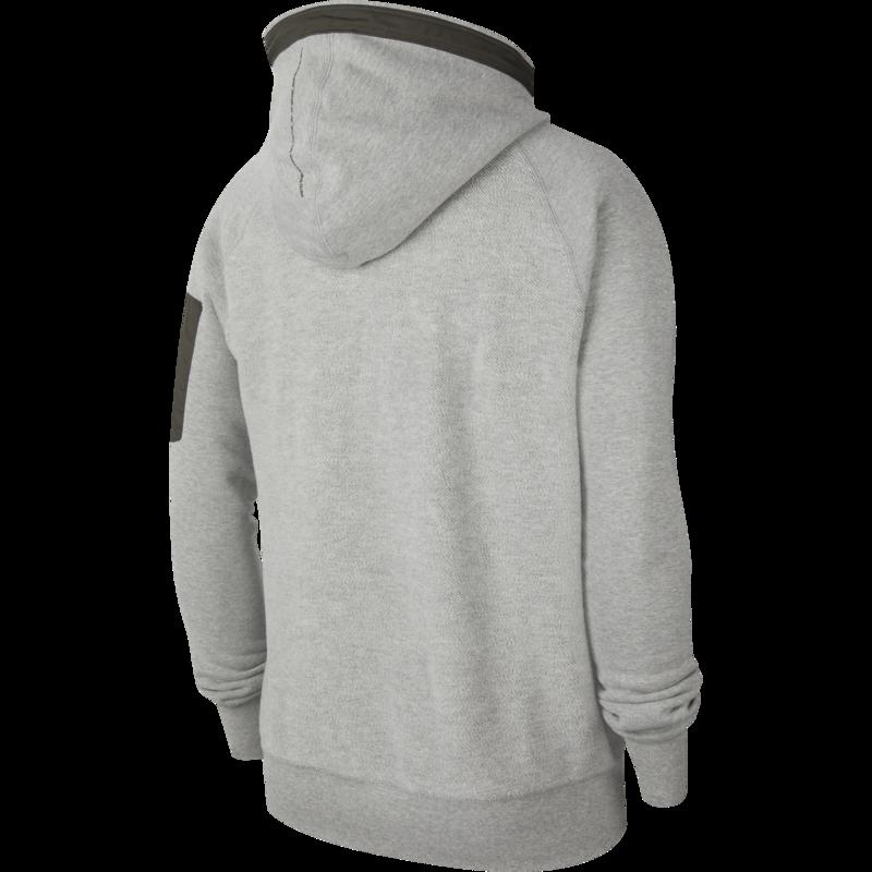 Nike Nike Men's Sportswear Pullover Fleece Hoodie Grey/White CU3797 050